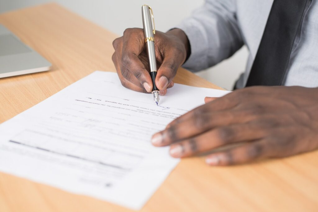 Person signing power of attorney