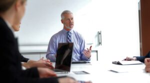 a business succession planning meeting