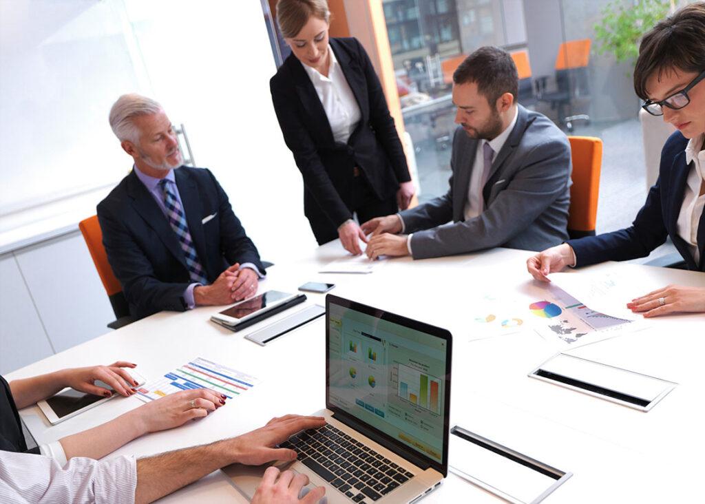 Business plan meeting