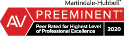 Martindale-Hubbell Preeminent Badge 2020