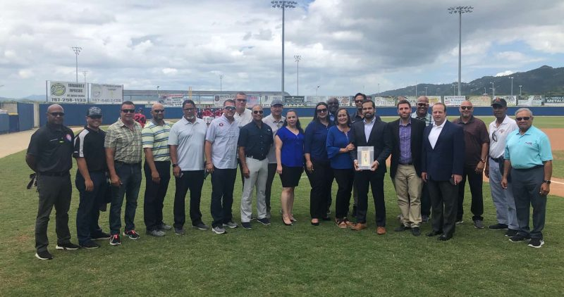 Friends and Family of Jorge Rivera join Frank Botta at the Puerto Rico Scouts Hall of Fame Induction Ceremony