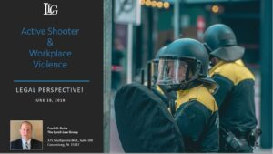 Cover Page of Active Shooter and Workplace Violence Presentation by Frank Botta
