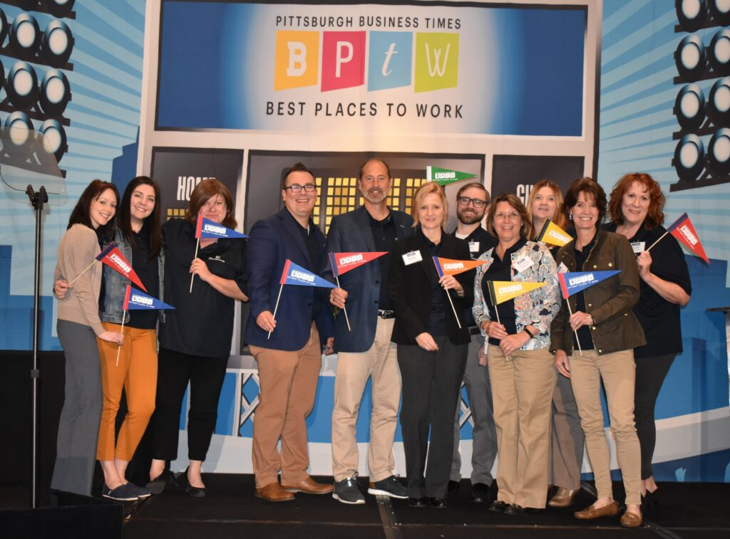 Group photo of The Lynch Law Group at 2019 Best Places to Work awards