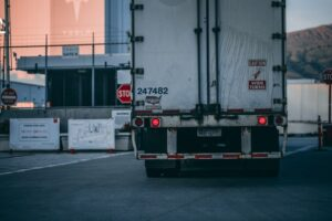 white freight truck