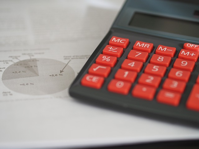 calculator and financial and tax statements