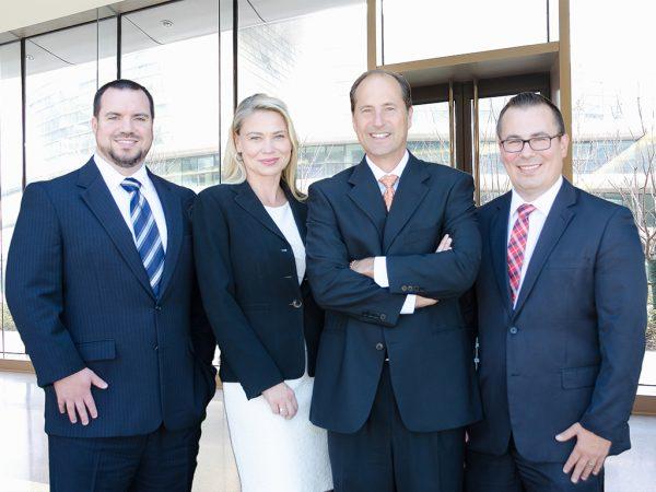 The Lynch Law Group leadership team includes Attorneys Dan Lynch, Charles Hadad, Krista Kochosky and Michael Oliverio