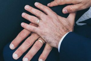 men with wedding rings